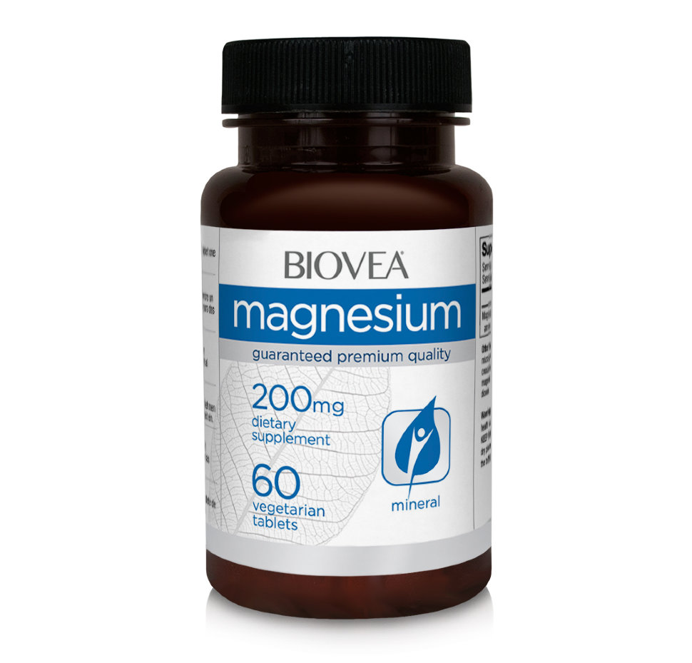 BIOVEA MAGNESIUM 200mg 60 Vegetarian Tablets